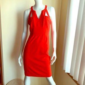 BCBGmaxazria Macie cut out cocktail sheath dress